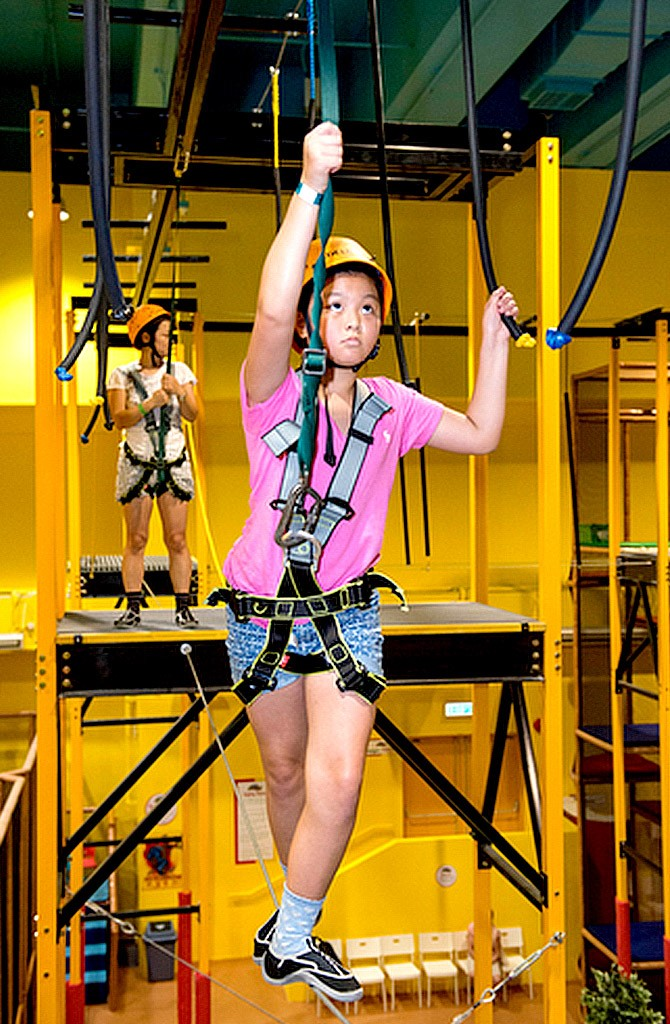 harness trampoline